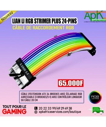 LIAN LI RGB STRIMER PLUS 24-PINS- Cable de raccordement RGB