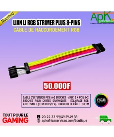 LIAN LI RGB STRIMER PLUS 8-PINS- Cable de raccordement RGB