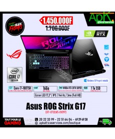 ASUS ROG STRIX G17 G712LWS-EV019T- Intel Core i7-10875H-16 Go DDR4- 1To SSD NVMe - NVIDIA GeForce RTX 2070 Super 8 Go - Win 10