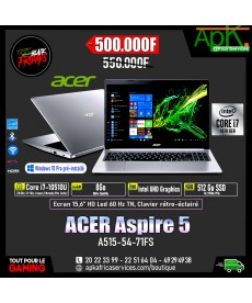 "ACER Aspire 5 A515-54-71FS-Intel Core i7-10510U 8 Go SSD 512 Go 15.6"" LED Full HD"