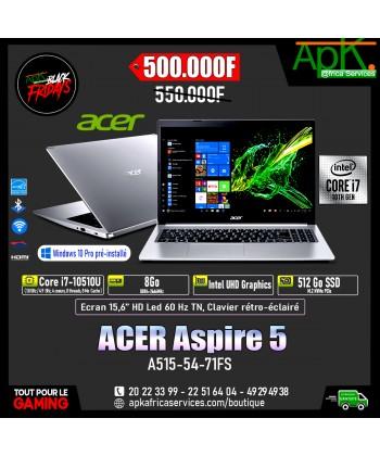 """ACER Aspire 5 A515-54-71FS-Intel Core i7-10510U 8 Go SSD 512 Go 15.6"""" LED Full HD"""