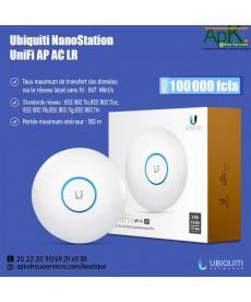 Ubiquiti Unifi UAP-AC-LR- Point d'accès intérieur Wi-Fi MIMO A/B/G/N/AC PoE Dual Band 2.4 (450 Mbps) et 5 GHz (867 Mbps)