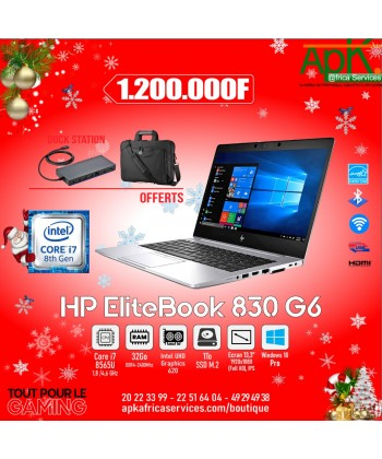 "HP EliteBook 830 G6- Intel Core i7-8565U-32 Go DDR4-SSD 1 To 13.3"" LED Full HD Tactile-Win10 Pro"