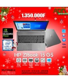 """HP ZBook 15 G5-INTEL CORE I7-8750H 8 GO SSD 256 GO 15.6"""" LED FULL HD NVIDIA QUADRO P1000 4 Go Win 10 Pro"""