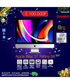 Apple iMac (2020)-27'' Retina 5K-Intel Core i7-RAM 8 Go-SSD 512 Go- Radeon Pro 5500 XT 8GB- macOS Catalina