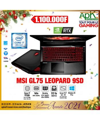 "MSI GL75 LEOPARD 9SD- INTEL CORE I7-9750H-RAM 16 GO-SSD 512 GO-7.3"" LED FULL HD- NVIDIA GEFORCE GTX 1660 TI 6 GO- WIN 10 Pro"