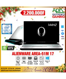 "ALIENWARE AREA-51M-Intel Core i7-9700-RAM 16 Go-SSD 256 Go + HDD 1 To-17.3"" LCD IPS-NVIDIA GeForce RTX 2070 8 Go- Win10 Pro"