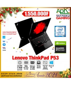"Lenovo ThinkPad P53 INTEL CORE I7-9850H-RAM 32 GO-SSD 512- 15.6"" LED FULL HD -NVIDIA QUADRO RTX 3000 6 GO WIN10 Pro"