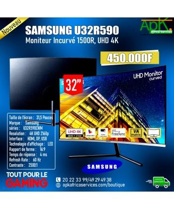 """SAMSUNG  U32R590 MONITEUR 4K INCURVE 31.5"""" LED -1500R- Format large 16/9 - Dalle VA"""