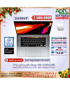 MacBook pro 16- Intel core I9 - 16Go RAM DDR4- 1000Go SSD - AMD Radeon Pro 5500M INTEL UHD Graphics 630 4Go GDDR6