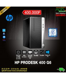 HP ProDesk 400 G6 - Intel Core i5-9500-8 Go Ram- HDD 1 To- Intel UHD graphics 630 - Graveur DVD Win10 Pro-(écran en option)