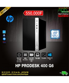 HP ProDesk 400 G6 - Intel Core i7-9700-8 Go Ram- HDD 1 To- Intel UHD graphics 630- Graveur DVD Win10 Pro-(écran en option)