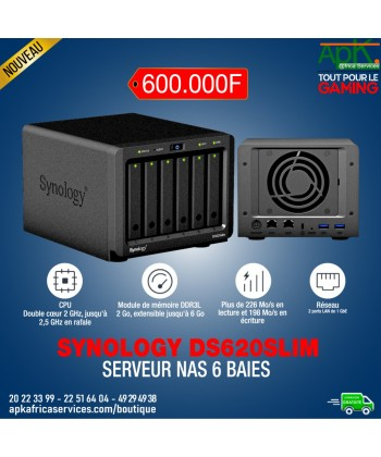 """Synology DiskStation DS620slim Serveur NAS 6 baies pour HDD/SSD 2.5"""""""