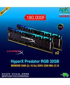 HyperX Predator RGB 32 Go (2x 16 Go) - Memoire RAM DDR4 3200 MHz CL16