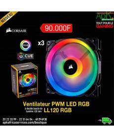 Corsair LL Series LL120 RGB Ventilateur de boîtier haute performance 120 mm avec LEDs RGB