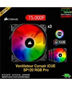 Corsair SP120 RGB PRO (x3)-Kit de 3 ventilateurs de boîtier 120 mm avec LEDs RGB
