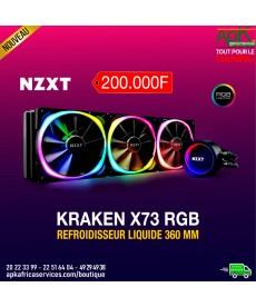 KRAKEN X73 Kit de Watercooling tout-en-un 360mm pour processeur avec rétroéclairage RGB