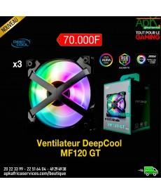 Deepcool MF120 GT (par 3) Pack de 3 ventilateurs de boîtier PWM 120 mm avec LED ARGB