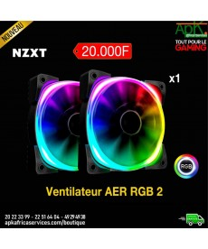 NZXT AER RGB 2 140 mm Ventilateur PWM LED 140 mm à LEDs RGB