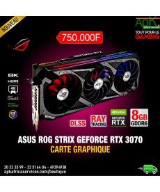ASUS GeForce ROG STRIX RTX 3070 O8G GAMING 8 Go GDDR6 - Dual HDMI/Tri DisplayPort - PCI Express (NVIDIA GeForce RTX 3070)