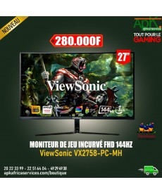 "MONITEUR ViewSonic 27"" LED - VX2758-PC-MH 1920 x 1080 pixels - 1 ms - Format large 16/9 - Dalle VA incurvée"