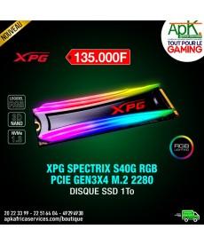 DISQUE SSD XPG SPECTRIX S40G RGB PCIE GEN3X4 M.2 2280