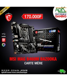 MSI MAG B460M BAZOOKA Carte mère Micro ATX Socket 1200 Intel B460 Express - 4x DDR4 - SATA 6Gb/s + M.2 PCI-E NVMe