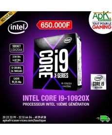 Processeur Intel Core i9-10920X (3.5 GHz / 4.6 GHz) Processeur 12-Core 24-Threads Socket 2066 Cache L3 19.25 Mo