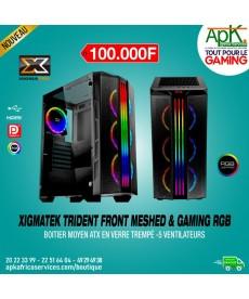 Xigmatek Trident Front Meshed & Gaming RGB Boitier en verre trempé