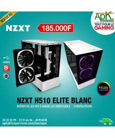NZXT H510 Elite Blanc - Boîtier à Bande Led adressable - 3 Ventilateurs