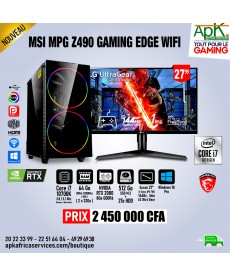 MSI MPG Z490 GAMING EDGE WIFI - Core I7 10700k - 64 Go Ram DDR4- 512 Go SSD+2To HDD - NVIDIA RTX 2080 de 8Go GDDR6 - Écran 27''