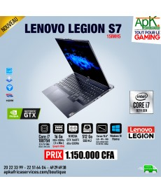 "Lenovo Legion S7  Intel Core i7-10875H - 16Go Ram - SSD 512Go - 15.6"" LED Full HD 144 Hz NVIDIA  GTX 1660Ti SUPER 6 Go - Win10"