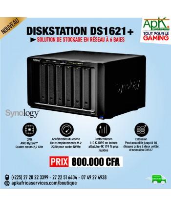 Synology DiskStation DS1621+ Serveur NAS 6 baies - 4 Go de RAM DDR4 - AMD Ryzen V1500B
