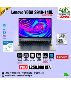 "Lenovo Yoga S940-14IIL 13.9"" - Intel Core i7 - 16 Go RAM - 500Go SSD - Intel Iris plus"