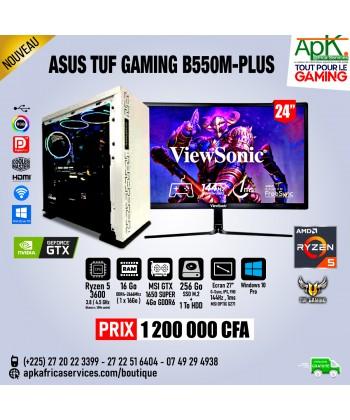 ASUS TUF GAMING B550-PLUS – Ryzen 5 3600X – 16 Go Ram DDR4 – 256Go SSD+1To HDD -6Go MSI GTX 1650 Super GDDR6 – Ecran 24