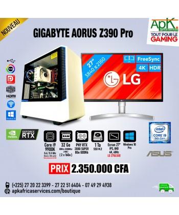 GIGABYTE AORUS Z390 PRO - CORE I9 9900K - 32Go RAM -1To SSD - PNY RTX 2080 SUPER GDDR6 de 8Go - Ecran 27'' - Win10