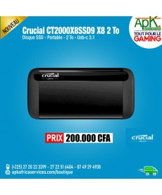 CRUCIAL X8 PORTABLE 2 TO CT2000X8SSD9 - Disque SSD externe USB-C 3.1