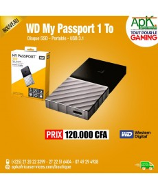 WD My Passport SSD 1 To (USB 3.1) DISQUE SSD EXTERNE USB 3.1 PORTABLE 1 TO AVEC CRYPTAGE DES DONNÉES (AES 256 BITS)