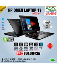 OMEN Laptop 17-cb1001nf- Intel Core i5-10300H - 16Go RAM DDR4-256Go SSD - NVIDIA RTX 2060 de 6Go GDDR6-Win10