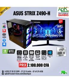 ASUS STRIX Z490-H - INTEL CORE I9 10850K - 32Go RAM -512 Go SSD+ 2To HDD - ROG STRIX RTX 2060 SUPER de 8Go - Ecran 27'' incurvé