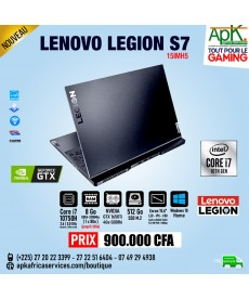 "Lenovo Legion S7  Intel Core i7-10750H - 8Go Ram - SSD 512Go 15.6"" LED Full HD 144 Hz NVIDIA  GTX 1660Ti SUPER 6 Go - Win10"