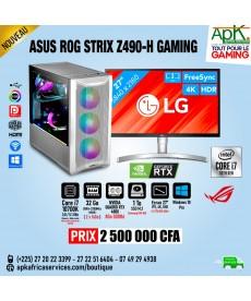 ASUS ROG STRIX Z490-H GAMING - Core I7 10700k - 32 Go Ram DDR4- 1To SSD - NVIDIA RTX 400 de 8Go GDDR6 - Écran 27'