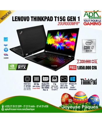 LENOVO THINKPAD T15G GEN1-Intel Core i7-10875H - 32 Go RAM DDR4- 1To Go SSD - NVIDIA RTX 2070 SUPER 8Go GDDR6-Win10