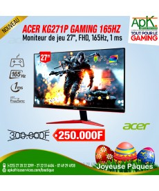 Acer 27″ KG271P FreeSync Gaming-Moniteur de jeu-Full HD 165Hz