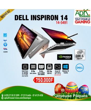 Dell Inspiron 14 5491-Core i5 10210U -8Go de RAM DDR4-512Go SSD(M.2) P-2Go Nvidia Geforce MX230 -Ecran 14-Win10
