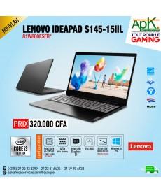 Lenovo Ideapad S145-15IIL-Intel Core I3 1005G1- 4 Go de RAM DDR4-1 To HDD - Intel UHD Graphics G1-Windows 10 pro