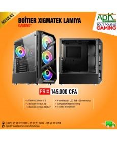 Xigmatek Lamiya Boîtier Moyen Tour avec fenêtres en verre trempé et 4 ventilateurs 120mm RGB